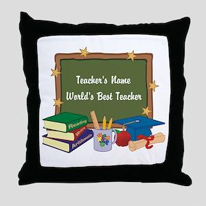 Personalized Teacher Throw Pillow