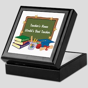 Personalized Teacher Keepsake Box