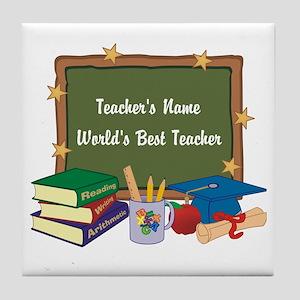 Personalized Teacher Tile Coaster