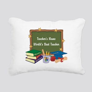 Personalized Teacher Rectangular Canvas Pillow