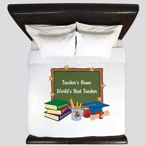 Personalized Teacher King Duvet