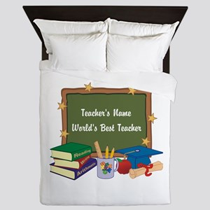Personalized Teacher Queen Duvet