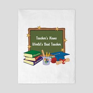 Personalized Teacher Twin Duvet