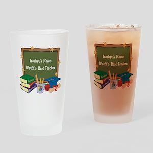 Personalized Teacher Drinking Glass