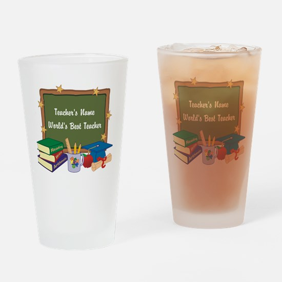 Personalized Teacher Drinking Glass