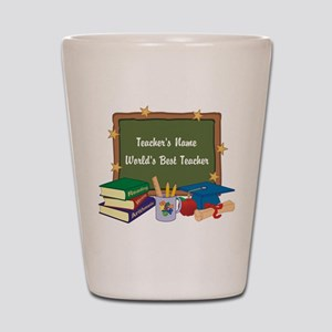 Personalized Teacher Shot Glass