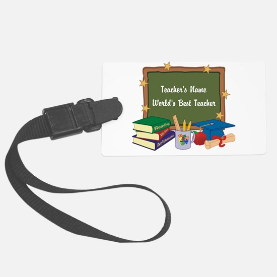 Personalized Teacher Luggage Tag