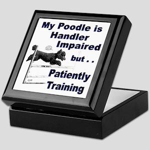 Poodle Agility Keepsake Box