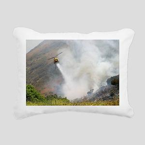 Barnett Fire  Rectangular Canvas Pillow
