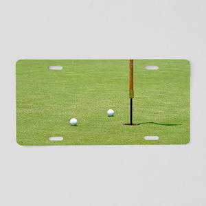 Golf Pin Aluminum License Plate