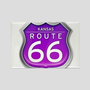 Kansas Route 66 - Purple Magnets