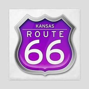 Kansas Route 66 - Purple Queen Duvet