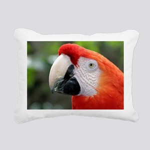 Scarlet Macaw Rectangular Canvas Pillow
