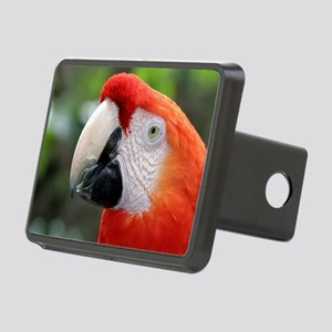 Scarlet Macaw Rectangular Hitch Cover