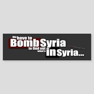 Bomb Syria Bumper Sticker