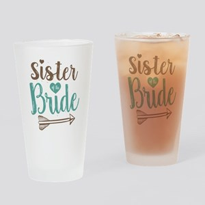 Sister of Bride Drinking Glass