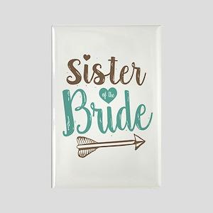 Sister of Bride Rectangle Magnet