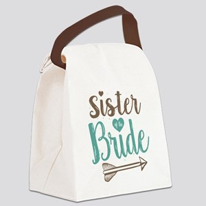 Sister of Bride Canvas Lunch Bag