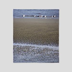 Sea Gulls in a Sound Throw Blanket