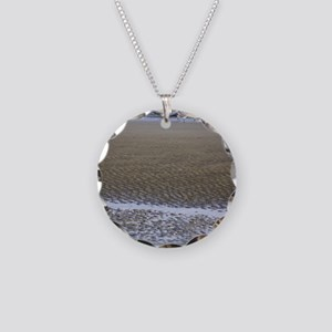 Sea Gulls in a Sound Necklace Circle Charm