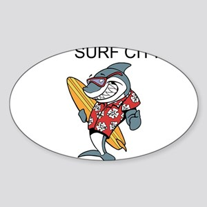 Surf City Sticker
