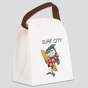 Surf City Canvas Lunch Bag