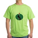 Santa Pip (No Words) Green T-Shirt