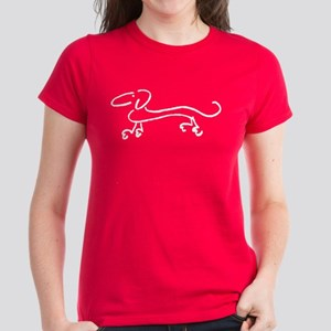 dachshund-white T-Shirt