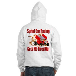 Fired Up Winged Sprint Hooded Sweatshirt