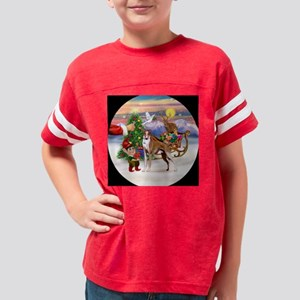 ORN-Rnd-SantasTrt-Whippet12 Youth Football Shirt