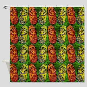 Red Green Tiki Shower Curtain Shower Curtain