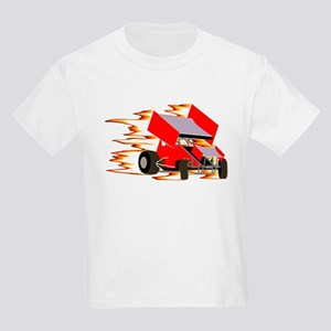 Flaming Winged Sprint Kids T-Shirt