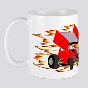 Flaming Winged Sprint Mug
