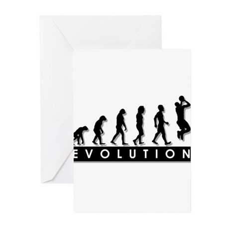 Evolution of the Basketball P Greeting Cards