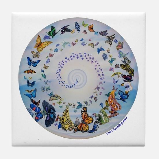 Butterfly Mandala * Transformation Tile Coaster