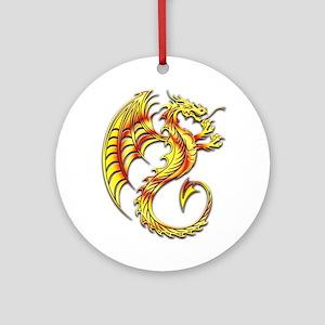 Golden Dragon Symbol Ornament (Round)