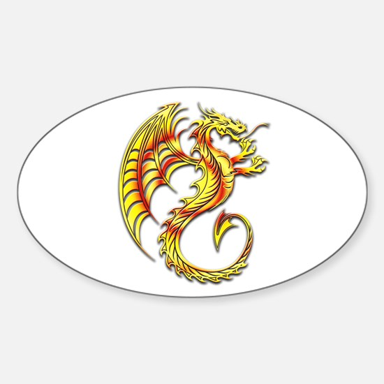 Golden Dragon Symbol Decal