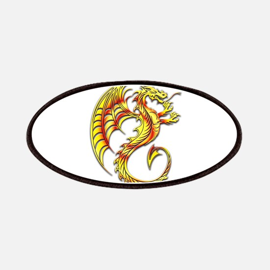 Golden Dragon Symbol Patches