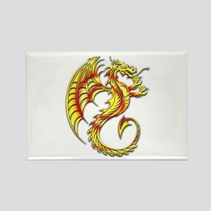 Golden Dragon Symbol Magnets