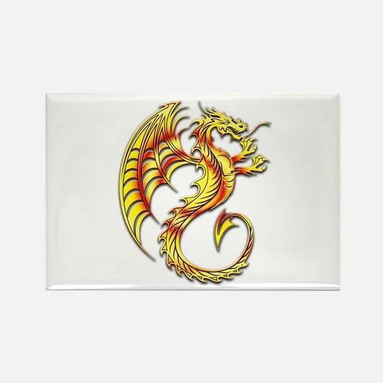 Golden Dragon Symbol Magnets