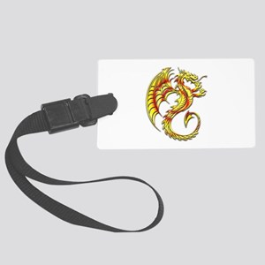 Golden Dragon Symbol Luggage Tag
