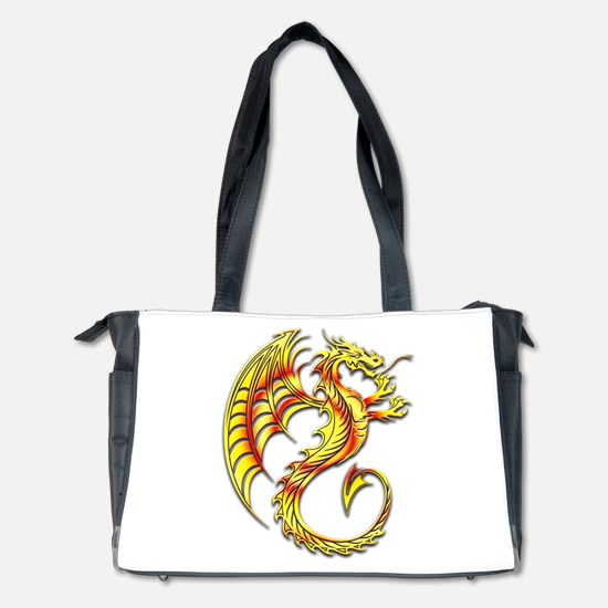Golden Dragon Symbol Diaper Bag