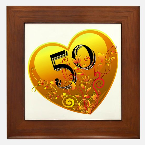 50th Golden Anniversary Framed Tile