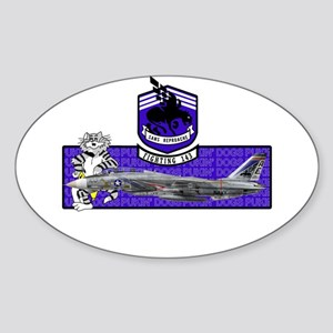 VF-143 Pukin' Dogs Oval Sticker