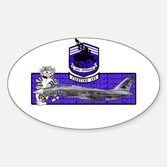 VF-143 Pukin' Dogs Oval Decal