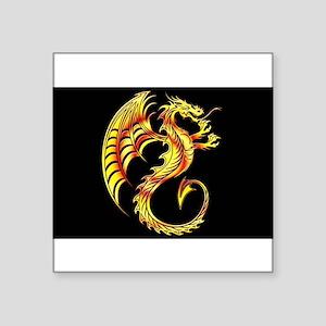 Golden Dragon Symbol Sticker