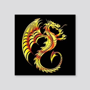 Golden Dragon Symbol Sticker