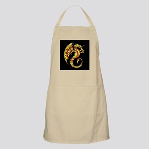 Golden Dragon Symbol Apron