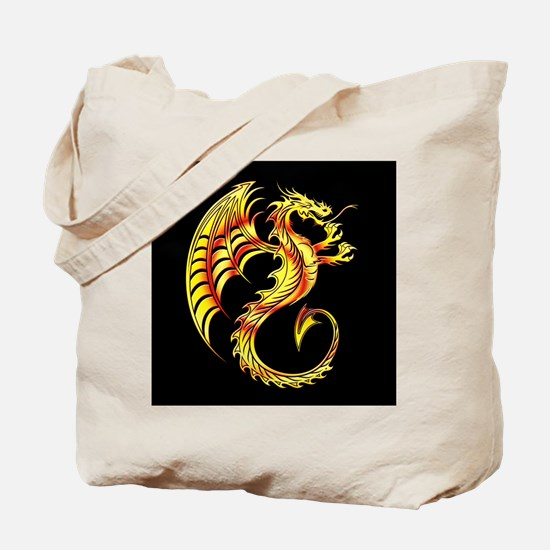 Golden Dragon Symbol Tote Bag