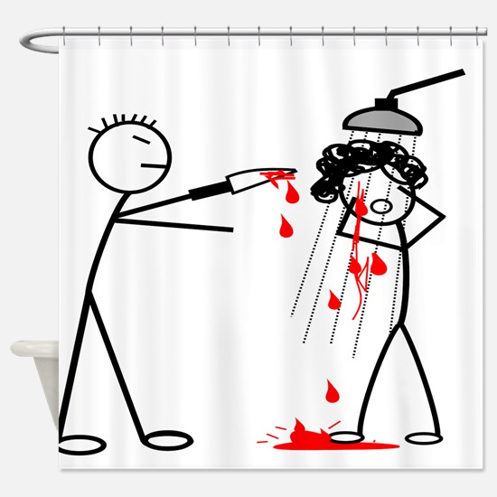 Psycho Scene Shower Curtain